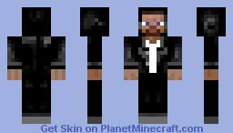 Steve with black jeans and coat Minecraft Skin