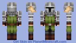 Green Faction Knight Minecraft Skin