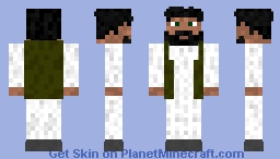 Friendly Middle-Eastern Man Minecraft Skin