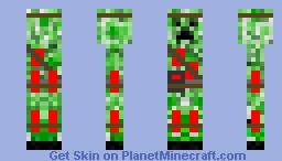 Terrorist Creeper Minecraft Skin