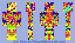Rainbow Freak Minecraft Skin