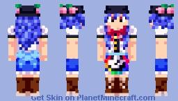 Touhou - Tenshi Hinanawi Minecraft Skin