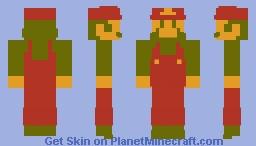Super Mario Bros. NES - Mario. Minecraft Skin