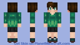 ❆𝓝𝓲𝓷𝓳𝓪𝓖𝓲𝓻𝓵2024❆ The Color Green Follows You Everywhere! Minecraft Skin