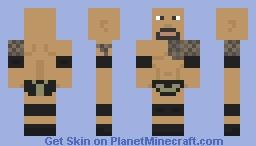 "Dwayne ""The Rock"" Johnson Minecraft Skin"