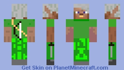 elf with bow and swords Minecraft Skin