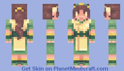 thebudgie but Toph (SF) Minecraft Skin