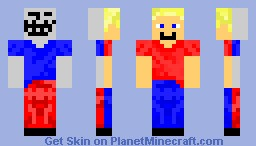 the guy who plays on your server (front who you thank he is) (back who he really is) Minecraft Skin