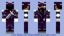 the purple pirate Minecraft Skin