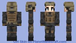 Tactical Anime Girl Minecraft Skin