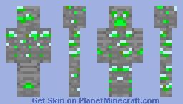 emerald ore creeper Minecraft Skin