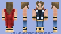 𝕋ℍ𝕆ℝ ( Marvel Legends ) ( Wave 14 ) Minecraft Skin