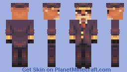 Mr. Fox Train Conductor [SF] TibbidyTobbidy Attack Minecraft Skin