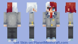 Shoto Todoroki (MHA) (Request) Minecraft Skin