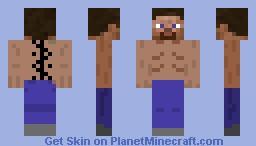 Topless Steve Minecraft Skin