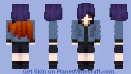 Touka Kirishima [With Kagune(Tokyo Ghoul)] Minecraft Skin