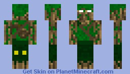 tree man Minecraft Skin
