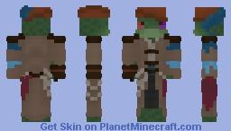 some crazy frog merchant thing Minecraft Skin