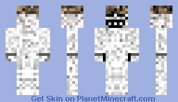 UnderCover Troll /w a Bowler Hat and Hidden Black Blades Minecraft Skin
