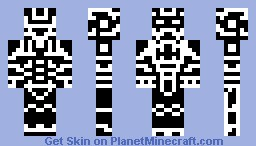 Tronic, Black & White Minecraft Skin