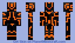 Tron (orange) Minecraft Skin