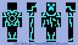 Minecraft skin - Tron Creeper Minecraft Skin