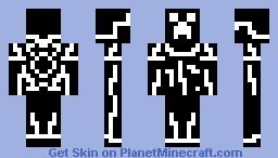 White Tron Creeper Minecraft Skin