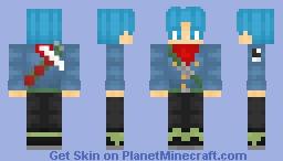 Trunks Del Futuro Dragon Ball Super (Saga de Black) Minecraft Skin