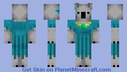 Turquoise Koala Minecraft Skin