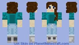 Turquoise Girl Minecraft Skin