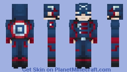 U.S. Agent - The Falcon and the Winter Soldier Minecraft Skin