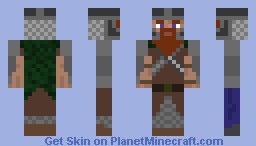 Gimli, lord of the rings Minecraft Skin