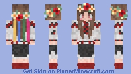 Ukrainian girl Minecraft Skin