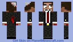 Happy Crazy Undead Businessman Minecraft Skin