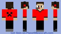 Gamer V1 [Red Creeper] Minecraft Skin