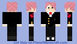 natsu in a tuxedo 2 Minecraft Skin