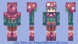 pirhana plant girl Minecraft Skin