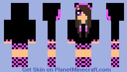 Cute Emo Girl Minecraft Skin