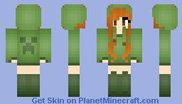 Creeper Girl Minecraft Skin