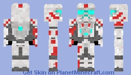 Red and White Arctic Spartan (Halo) Minecraft Skin