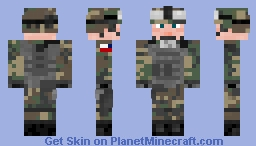 ★US Army Soldier - Woodland BDU ★ Minecraft Skin