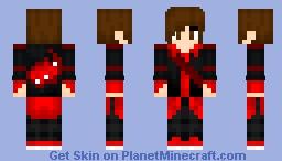 Uriel Reyes (Negro y Rojo) Minecraft Skin