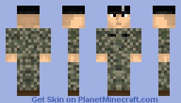 US Army soldier Minecraft