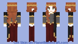 Red-haired princess Minecraft Skin