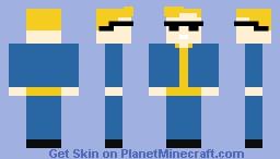 Vault Boy With Shades Minecraft Skin
