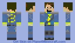 fallout vault dweller Minecraft Skin