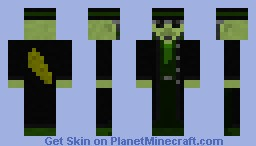 THE PICKLER! - Fancy Trench Coat Minecraft Skin