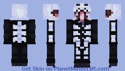 Virgil Sanders - Anxiety ( Skeleton Onesie) Minecraft Skin