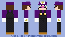 Waluigi [Fixed] Minecraft Skin