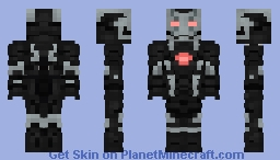 War Machine | MCU (Mark 3, Civil War) Minecraft Skin